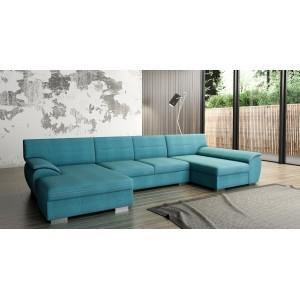 K/Letizia U καναπές σε σχήμα Π με κρεβάτι και αποθηκευτικό χώρο 178x355x163 cm