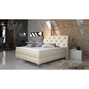 Adel Κρεβάτι Boxspring με στρώμα και αποθηκευτικό χώρο