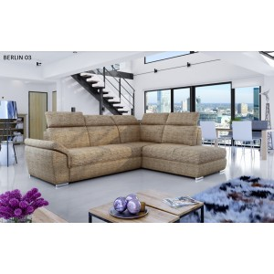 Loreto γωνιακός καναπές με κρεβάτι και αποθηκευτικό χώρο 260x210x102 cm ύψος 82 cm