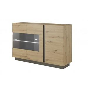 Arco μπουφές με βιτρίνα 138x40x90.5 cm