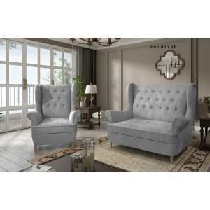 Aros σετ διθέσιος καναπές και πολυθρόνα 150x90x103/85x90x103