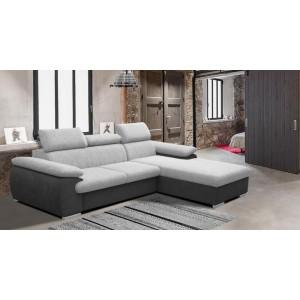Coast καναπές γωνία με κρεβάτι και αποθηκευτικό χώρο 284x196 cm