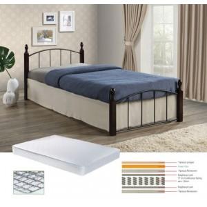 Σετ κρεβάτι και στρώμα μονό ZE8096,S / ΔΙΑΣΤΑΣΕΙΣ Κρεβ.95x200x76+Στρώμα90x190x18