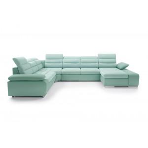 Cuba III καναπές σε σχήμα Π με κρεβάτι και αποθηκευτικό χώρο