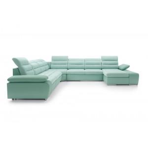 Cuba IV καναπές σε σχήμα Π με κρεβάτι και αποθηκευτικό χώρο