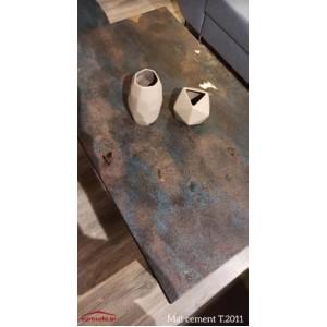 Mat cement T.2011 τραπεζάκι σαλονιού 110x70x45 cm