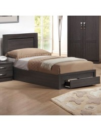 Κρεβάτι μονό με συρτάρι ZEM3632 /  118x207x93 (Στρώμα 110x200) cm