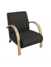 Πολυθρόνα Σημύδα/Ύφασμα Ανθρακί / E7155,1 / 63x77x77 cm